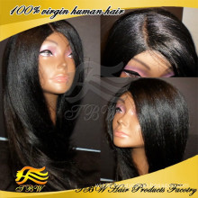 High grade factory price yaki human hair wig wholesale cheap italian yaki full lace wig
