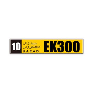 Número europeu de matrícula de carro com filme reflexivo