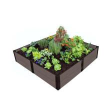 Modern Design Flower Box Waterproof Flower Bed Plant Engineering WPC Composite Flower Pots