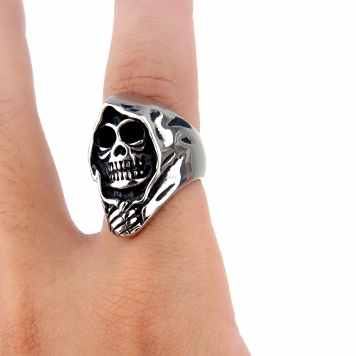 fashion skull finger ring