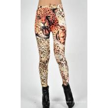 Sexy Girls Seamless Tights Leopard Print Jean Leggings