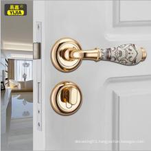 High grade ceramic carved zinc door handle lock