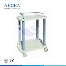 AG-LPT005A ABS 2 capas carros de utilidad de servicios de instrumentos de hospital carros de plástico