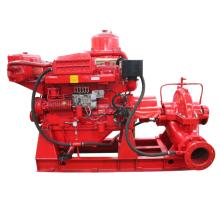 Bomba de succión doble de flujo grande serie XBC-S unidad de incendio de motor diesel NFPA 20 estándar