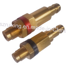 Válvulas industriales de latón con mecanizado CNC