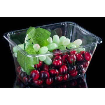 Bac à salade transparent en PET spécial fruits sans couvercle