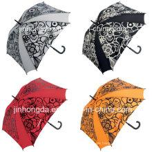 8 Panels Blumendrucken gerade Golf Umbrella (YSGO0005)