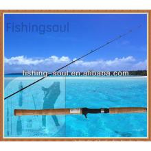 CTR003 1 vara de pesca da carcaça de carbono da isca da seção