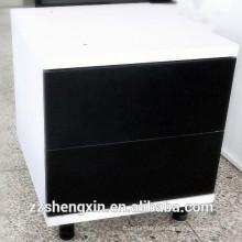 Destaque White Black Drawing Wood Storage Armazém