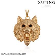 32522 xuping moda oro 18k aleación de cobre animal león mujeres colgante