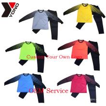 Many Color Wholesale Cheap Custom Made Blank long sleeve Goalkeeper Jersey