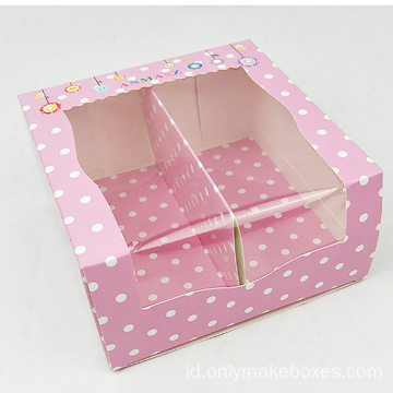 Kustom Cute PVC Window Baby Shoes Packaging Boxes