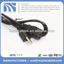 Cordon de câble d'alimentation CA 3-Prong US Standard PC
