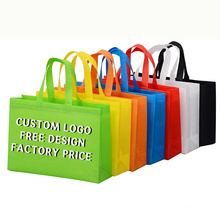 2021 custom printed logo non-woven tote bags non woven laminated shopping bag with full color logo and handles