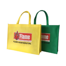 Eco-friendly handled style pp non woven fabric shopping bag with custom printed logo