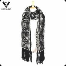 2016 Mujer de ganchillo grueso invierno cálido bufanda largas franjas