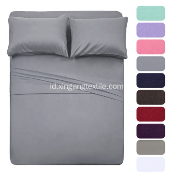 90gsm Polyester Microfiber Sheet Set 4 pcs
