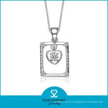 Elegante rhodium moda banhado pingente de prata da jóia (SH-N0082)