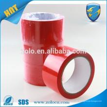 ZOLO de alta qualidade anti-roubo bopp 48mm fita de embalagem transparente vermelha aberta VOID
