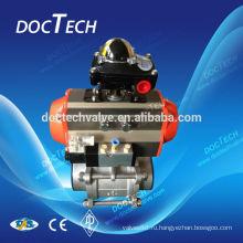 3pc полный порт соленоидные клапаны углеродистой стали: а 216 WCB; CF8(SS304),CF8M(SS316)