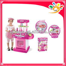 Kitchen Cooking Set Toy,Kids Play Pretend Kitchen Set With Music And Light