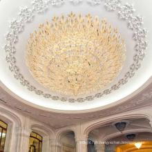 Globe d'or de couloir d'hôtel grand plafonnier mené d'intérieur adapté aux besoins du client de luxe