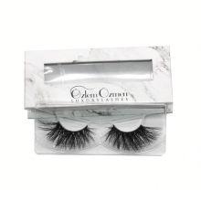 7D67 Hitomi custom lash box mink eyelashes 3d mink lashes paper eyelash packaging 3d real mink eyelash
