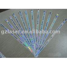 Hologramm-Kratzer-Ohrringaufkleber-Kartenaufkleber