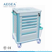 Chariots d'hôpital en plastique chirurgicaux d'ABS de basse usine directe professionnelle de moq