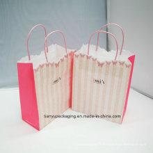 Sac d'emballage en papier pour vêtements avec poignée de corde