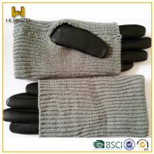 2016 Nouveaux gants en cuir de mode pour femme Gants de cuir doux et doux en cuir de mouton en peau de mouton acrylique