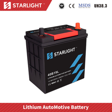 Batterie de voiture 12V 40B19L LiFePO4 (type standard)