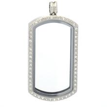 Бирка собаки кристалл плавающие подвески медальон памяти нержавеющей стали медальон стекло память кулон