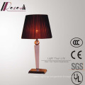 Hotel Decorative Red Silk Shade Bedside Table Lamp