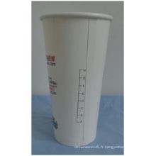 Tasses jetables de papier de PE de 10oz doubles, échelle imprimée