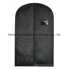 Custom Black Non-Woven Suit Garment Cover