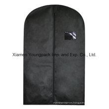 Custom Black Non-Woven Suit Garment Cover