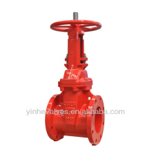 FM UL Approved Resilient Seated Rising Stem Flanged Ends Gate Valve