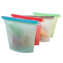 Leakproof resealable silicone food preservation bag