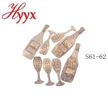 HYYX оптовая дешевые свадебные ткани бумажные/металлические свадебные украшения