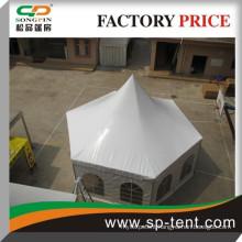 Hexagon aluminum pagoda tent 4x8m for 30 people
