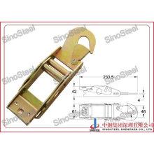 "1-3/4""-45mm Overcenter Buckle with Flat Belt Hook"