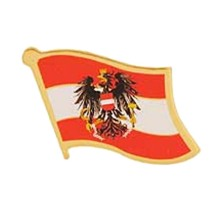 Austria Flag Lapel Pin Badge With Butterfly Clasp