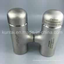 Pièce en t de l'acier inoxydable 304 316L de la norme ANSI B16.9 avec la qualité supérieure (KT0350)