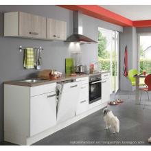 Armarios de la cocina del diseño simple brillante de la manera (modificado para requisitos particulares)