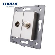 Производство Livolo Аксессуар для розетки для телевизора и спутникового выхода без стеклянной панели VL-C7-1VST-15