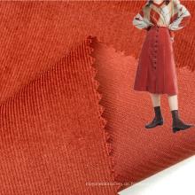 Helle maßgeschneiderte Farbe 145GSM 100% Baumwolle gewebt 21 Wales Cordstoff für Mädchenkleider