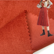 Bright customized color 145GSM 100% cotton woven 21 wales corduroy fabric for girls dresses