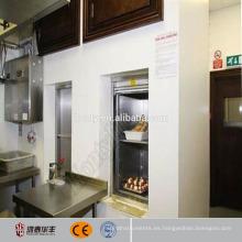 elevador de camareros de restaurante eléctrico mudo tonto para la venta
