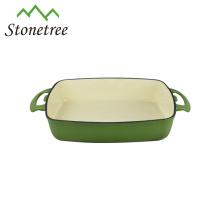 Wholesale Cheap Roasting Baking Pan Cast Iron Rectangular Dish